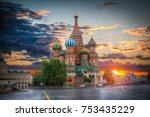 st. basil's cathedral   an... | Shutterstock . vector #753435229