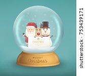 cute christmas character... | Shutterstock .eps vector #753439171