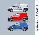 a set of vans for mounting your ... | Shutterstock .eps vector #753441211