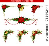 christmas decoration set with... | Shutterstock .eps vector #753442444