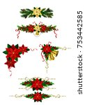christmas decoration set with... | Shutterstock .eps vector #753442585