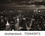 new york city downtown skyline... | Shutterstock . vector #753443971