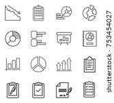 thin line icon set   crisis ...