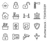 thin line icon set   wireless... | Shutterstock .eps vector #753454339