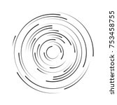 rotating in a circle line.... | Shutterstock .eps vector #753458755