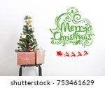 christmas tree with decorations ... | Shutterstock . vector #753461629
