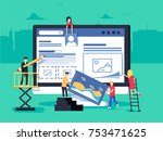 small people character...   Shutterstock . vector #753471625