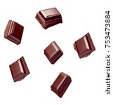 close up of chocolate pieces... | Shutterstock . vector #753473884