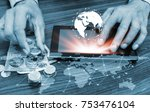 online banking and internet... | Shutterstock . vector #753476104