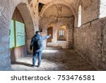 unidentified man visiting... | Shutterstock . vector #753476581