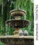 fountain and sweet birds... | Shutterstock . vector #753476761