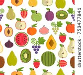 vector seamless pattern with... | Shutterstock .eps vector #753477841