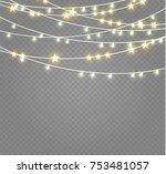 christmas lights isolated on... | Shutterstock .eps vector #753481057