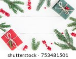 christmas composition.... | Shutterstock . vector #753481501