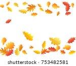 oak leaf border abstract... | Shutterstock .eps vector #753482581