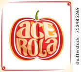 Vector Logo For Acerola Cherry...