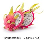 Dragon Fruits Isolated On A...