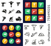 power tools all in one icons... | Shutterstock .eps vector #753490231