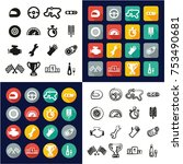 racing all in one icons black   ... | Shutterstock .eps vector #753490681