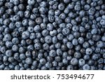 fresh blueberry background.... | Shutterstock . vector #753494677