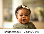 happy african american little... | Shutterstock . vector #753499141