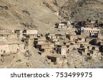 traditional village in the high ... | Shutterstock . vector #753499975