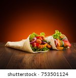 kebab   grilled meat and... | Shutterstock . vector #753501124