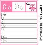 worksheet.alphabet activity for ... | Shutterstock .eps vector #753502255