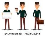 business man cartoon character. ... | Shutterstock .eps vector #753505345