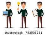 business man cartoon character. ... | Shutterstock .eps vector #753505351