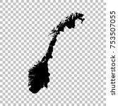 vector map norway. isolated...   Shutterstock .eps vector #753507055