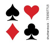 playing cards suits isolated on ... | Shutterstock .eps vector #753507715