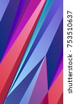 bright abstract polygonal... | Shutterstock .eps vector #753510637