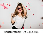indoor portrait of amazing... | Shutterstock . vector #753516451