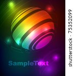 glowing abstract background | Shutterstock .eps vector #75352099