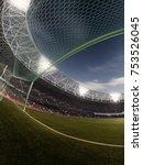 evening stadium arena soccer... | Shutterstock . vector #753526045