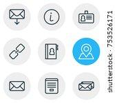 editable pack of epistle  url ... | Shutterstock .eps vector #753526171
