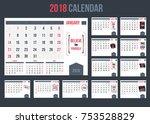 business calendar with...   Shutterstock .eps vector #753528829