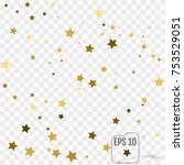 vector gold confetti background ... | Shutterstock .eps vector #753529051