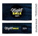 vector illustration night sale... | Shutterstock .eps vector #753531565