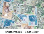 polish money banknotes | Shutterstock . vector #75353809