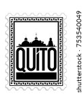 design of the city of quito... | Shutterstock .eps vector #753540049