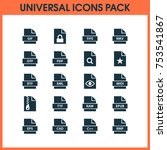 includes icons such as design ... | Shutterstock .eps vector #753541867