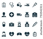 includes icons such as heal ...   Shutterstock .eps vector #753542311