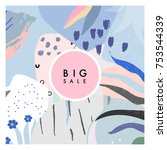 creative sale header or banner... | Shutterstock .eps vector #753544339