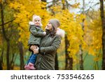 happy family mother and child... | Shutterstock . vector #753546265