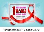 aids world cancer december... | Shutterstock .eps vector #753550279