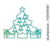 merry christmas happy tree star ... | Shutterstock .eps vector #753559087
