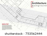 elements of architecture... | Shutterstock .eps vector #753562444