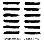 isolated vector set of brush... | Shutterstock .eps vector #753566749